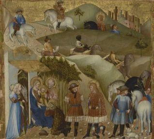 Adoration des Mages. Giovanni di Paolo